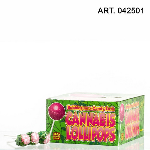 Cannabis Lollipops Bubble gum x Candy kush