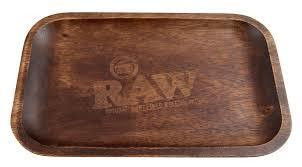 Raw Wooden Rollingtray, medium size