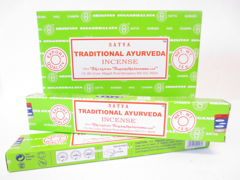 Satya Suitsukkeet, Traditional Ayurveda 12 x 15g