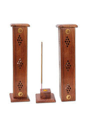 Wooden Incense Stick Holder Tower 'YingYang'