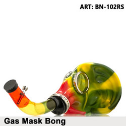 Gas Mask Bong - Rasta