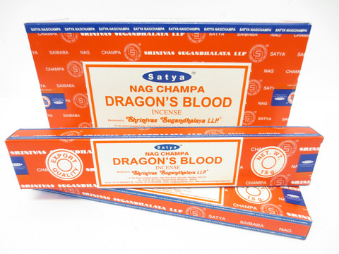 'Satya Suitsukkeet, Nag Champa Dragon's blood, 12 x 15g