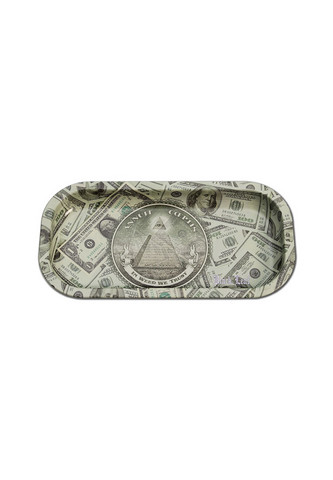 'Black Leaf' 'In Weed We Trust' Dollar Mixing Tray