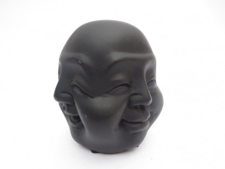 4 faces Buddha black