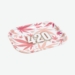 V-Syndicate | 420 Pink Rolling Tray Small