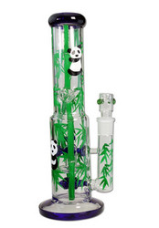 Hand Painted Glass Bong Ice 5x Knob Perco 'Panda'