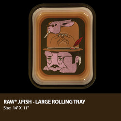 Raw Rolling Tray Designed By Artist Jeremy Fish