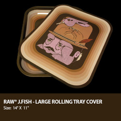 Raw Rolling Tray Cover Designed By Artist Jeremy Fish