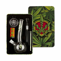 Amsterdam Greenline Bong Green Peace Giftset, Leaf