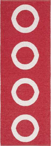 Muovimatto - Horreds mattan Circus, punainen