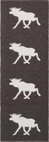 Muovimatto - Horreds mattan Hirvi, musta