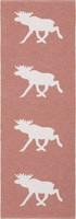 Muovimatto - Horreds mattan Hirvi, vaaleanpunainen