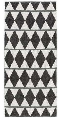 Muovimatto - Horreds mattan Zigge, musta