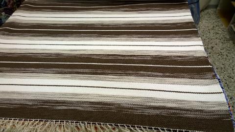 Räsymatto, ruskea - beige