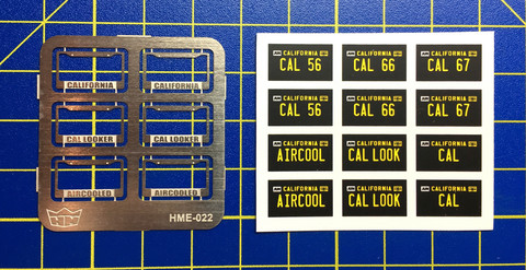 HME-022, License plate frames + license plates