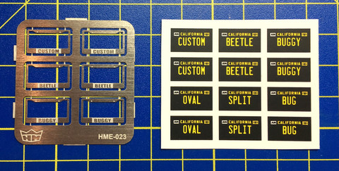 HME-023, License plate frames + licence plates