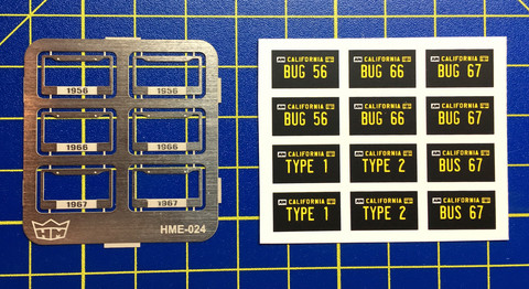 HME-024, License plate frames + licence plates