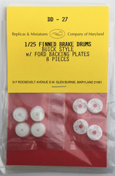 DD-27, Finned brake drums