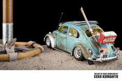 Photographs of scale models built by Eero Kumanto