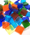 Tiffany glass mosaic 1 x 1 cm