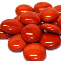 Glass Gems, 100 g, Red Marble