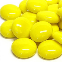 Glass Gems, 100 g, Yellow Marble