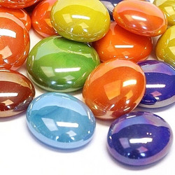 Glass Gems, 100 g, Tropical Mix