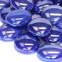 Glass Gems, 100 g, Blue Opalescent