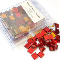 Mirror Mosaic, Red, 1x1 cm, 125g