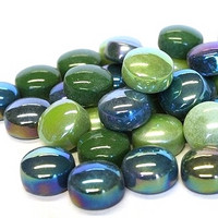Mini Gems, Dark Green, 50 g, app. 33 pcs