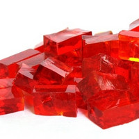 Smalti, Red, transparent, 50 g