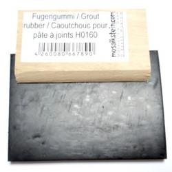 Grout rubber 70 mm, with wooden grip