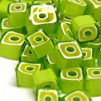 Millefiori, Lime-Green Squares, 20g