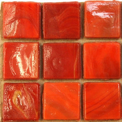 Marbled 15mm, Red, 25 tiles