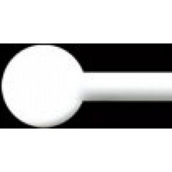 Glass rods, Bianco Pastello, 2 pcs