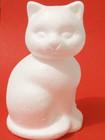 Styrofoam-cat, height 14 cm
