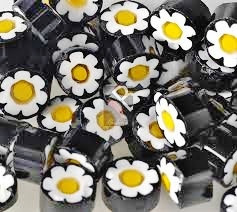 Millefiori, Black-Yellow Flower, 20 g
