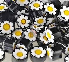 Millefiori, Black-Yellow Flower, 20 g