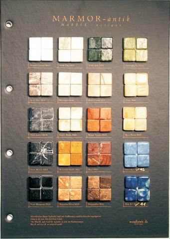 Sample board, Mosaikstein, Marble 8mm
