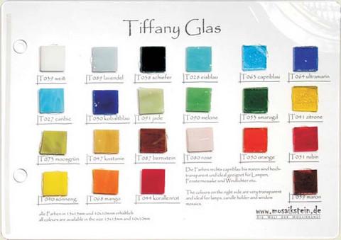 Värikartta, Mosaikstein, Tiffany lasimosaiikit