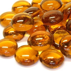 Glass Gems, 100 g, Amber Crystal, transparent