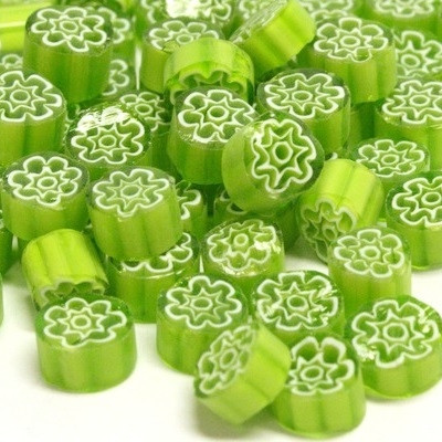 Millefiori, Green Flowers, 50 g