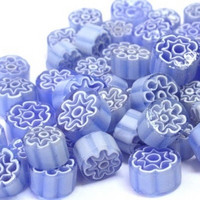 Millefiori, Light Blue Flowers, 50 g