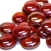 Glass Gems, 500 g, Red Opalescent