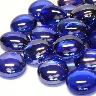 Lasihelmet, 500 g, Blue Diamond, läpikuultava