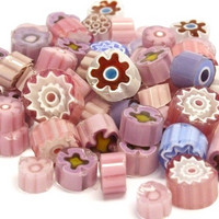 Millefiori, Lilac-Pink Tones, 50 g
