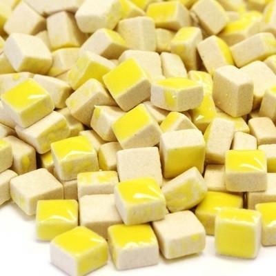 Mikromosaiikki, 5x5x3 mm, Yellow, 50 g