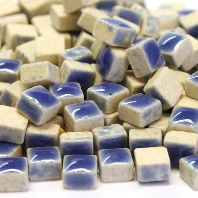 Mikromosaiikki, 5x5x3 mm, Mid Blue, 50 g