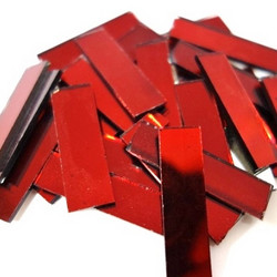 Mirror Mosaic 30 g, Red, 1x3,5 cm