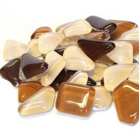 Soft Glass, Brown Mix, 500 g